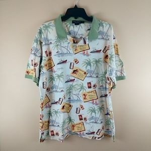daniel cremieux collection tropical Polo shirt XL